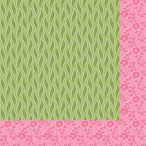 Anna Griffin - Palmer Collection - 12 x 12 Double Sided Paper - Wavy - Pink