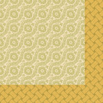 Anna Griffin - Haven Collection - 12 x 12 Double Sided Paper - Jacquard - Olive