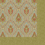 Anna Griffin - Haven Collection - 12 x 12 Double Sided Paper - Damask - Blue