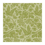 Anna Griffin - 12 x 12 Green Flocked Paper - Green