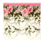 Anna Griffin - Camilla Collection - 12 x 12 Double Sided Paper - Floral Border