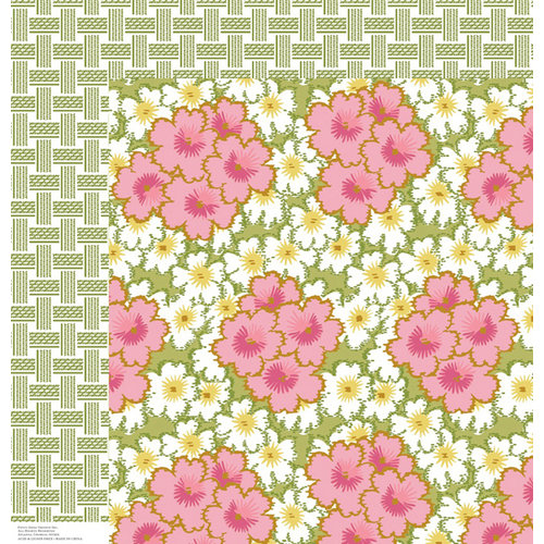 Anna Griffin - Olivia Collection - 12 x 12 Double Sided Paper - Bursts Pink