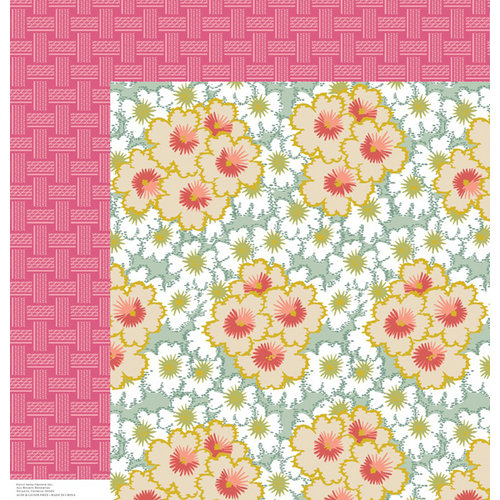 Anna Griffin - Olivia Collection - 12 x 12 Double Sided Paper - Bursts Blue