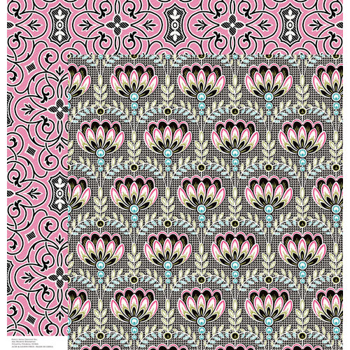 Anna Griffin - Eleanor Collection - 12 x 12 Double Sided Paper - Cardstock 4