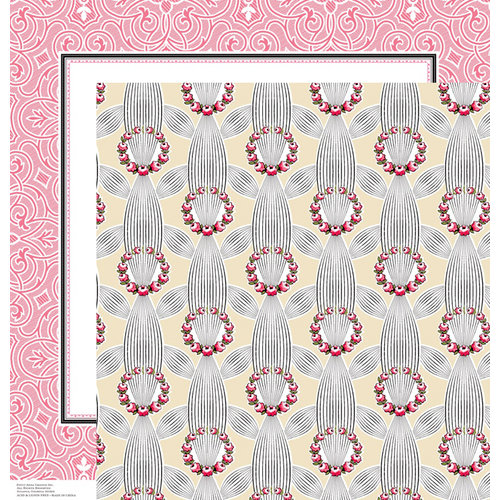 Anna Griffin - Eleanor Collection - 12 x 12 Double Sided Paper - Cardstock 5