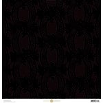 Anna Griffin - Eleanor Collection - 12 x 12 Flocked Paper - Black