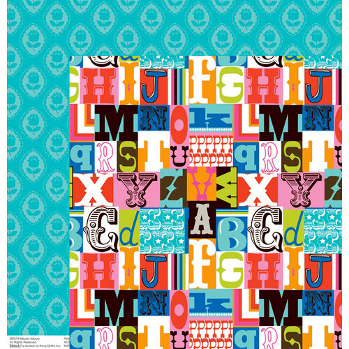 Anna Griffin - Gabbie Collection - 12 x 12 Double Sided Paper - Letterpress Multi