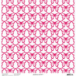 Anna Griffin - Blomma Collection - 12 x 12 Pink Foiled Paper - Butterflies