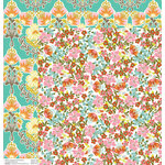 Anna Griffin - Hope Chest Collection - 12 x 12 Double Sided Paper - Flower Bed White