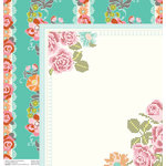 Anna Griffin - Hope Chest Collection - 12 x 12 Double Sided Paper - Fancy That Turquoise