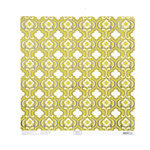 Anna Griffin - Hope Chest Collection - 12 x 12 Silver Foiled Paper - Quatrefoil Green
