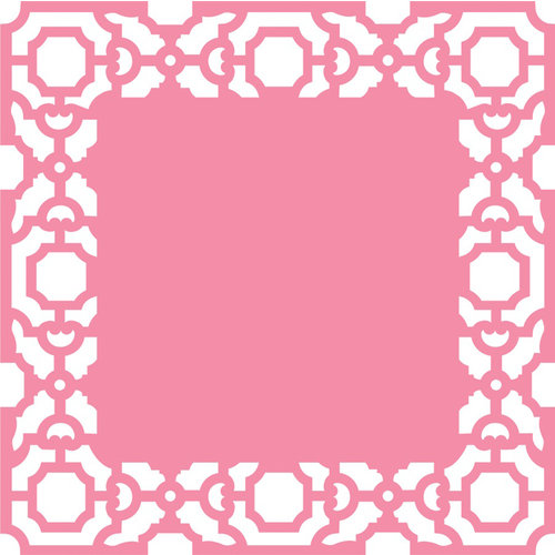 Anna Griffin - Eleanor Collection - 12 x 12 Die Cut Paper Layers - Pink
