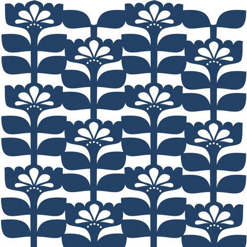 Anna Griffin - Gabbie Collection - 12 x 12 Floral Die Cut Paper Layers - Blue