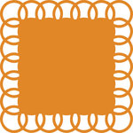 Anna Griffin - Blomma Collection - 12 x 12 Circle Die Cut Paper Layers - Orange