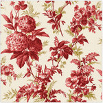Anna Griffin - Jolie Collection - 12 x 12 Paper - Chrysanthemum Red
