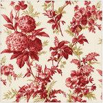 Anna Griffin - Jolie Collection - 12 x 12 Paper - Chrysanthemum Red