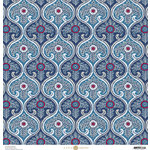 Anna Griffin - Madison Collection - 12 x 12 Paper - Twirler - Navy