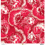 Anna Griffin - Madison Collection - 12 x 12 Paper - Firecracker Floral - Cherry