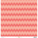 Anna Griffin - Best In Show Collection - 12 x 12 Paper - Chevron Coral