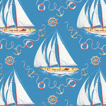 Anna Griffin - Masculine Collection - 12 x 12 Paper - Sailboats