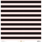 Anna Griffin - Juliet Collection - 12 x 12 Paper - Stripe - Pink and Black
