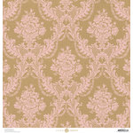 Anna Griffin - Juliet Collection - 12 x 12 Paper - Kraft - Pink Damask