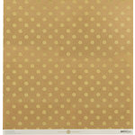 Anna Griffin - Juliet Collection - 12 x 12 Paper with Foil Accents - Dot - Kraft