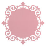 Anna Griffin - Juliet Collection - 12 x 12 Die Cut Paper - Ornate Frame - Pink
