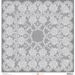 Anna Griffin - Endora Collection - Halloween - 12 x 12 Paper - Lace - Grey