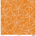 Anna Griffin - Endora Collection - Halloween - 12 x 12 Paper - Web - Orange
