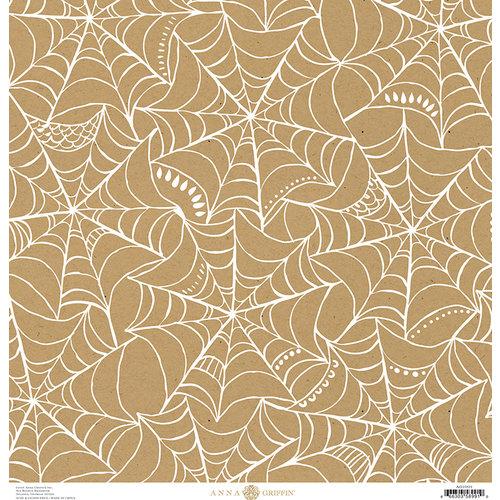Anna Griffin - Endora Collection - Halloween - 12 x 12 Paper - Web - Kraft