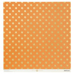 Anna Griffin - Endora Collection - Halloween - 12 x 12 Paper with Foil Accents - Dots - Orange