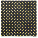 Anna Griffin - Endora Collection - Halloween - 12 x 12 Paper with Foil Accents - Dots - Black