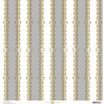 Anna Griffin - Endora Collection - Halloween - 12 x 12 Paper - Stripes - Grey and White