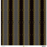 Anna Griffin - Endora Collection - Halloween - 12 x 12 Paper - Stripes - Black and Grey