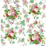 Anna Griffin - Fancy French Collection - 12 x 12 Paper - Floral - White
