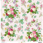 Anna Griffin - Fancy French Collection - 12 x 12 Paper - Floral - Pink