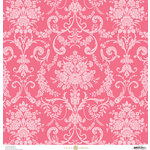 Anna Griffin - Fancy French Collection - 12 x 12 Paper - Damask - Pink