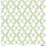Anna Griffin - Fancy French Collection - 12 x 12 Paper - Harlequin Vine