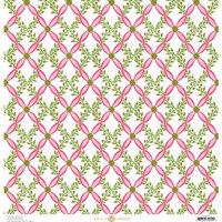 Anna Griffin - Fancy French Collection - 12 x 12 Paper - Harlequin Vine - Pink