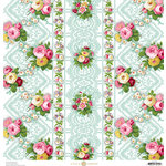 Anna Griffin - Fancy French Collection - 12 x 12 Paper - Floral - Blue