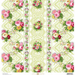 Anna Griffin - Fancy French Collection - 12 x 12 Paper - Floral - Green