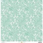 Anna Griffin - Fancy French Collection - 12 x 12 Paper - Blue