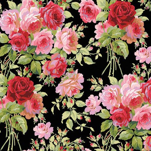 Anna Griffin - Rose Collection - 12 x 12 Cardstock - Garden Rose Dark