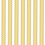 Anna Griffin - Rose Collection - 12 x 12 Cardstock with Foil Accents - Fancy Yellow Stripe