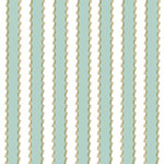 Anna Griffin - Rose Collection - 12 x 12 Cardstock with Foil Accents - Fancy Blue Stripe