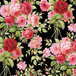 Anna Griffin - Rose Collection - 12 x 12 Paper - Garden Rose Dark