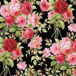 Anna Griffin - Rose Collection - 12 x 12 Paper - Garden Rose Dark