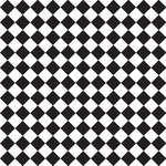 Anna Griffin - Rose Collection - 12 x 12 Paper - Black and White Checkerboard