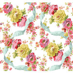 Anna Griffin - Rose Collection - 12 x 12 Paper - Ribbons and Roses